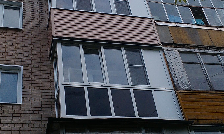 Остекление балкона с тонированием нижней части - энергосбере.