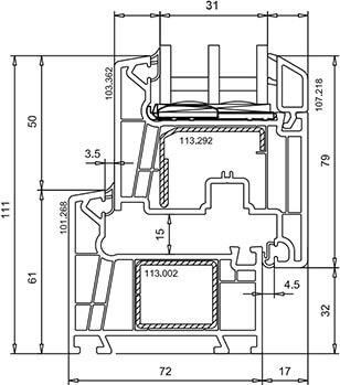 Veka WHS 72 (схема)